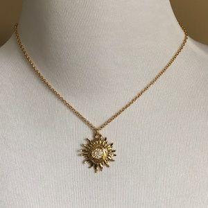 Coach Jewelry - NWT COACH gold Sunburst Pave Necklace